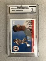 2006 Topps Mantle Home Run History #24 Mickey Mantle 9 Mint