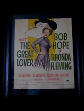 Vintage Original Movie Poster 1949 Bob Hope Meet The Great Lover Paramount USA