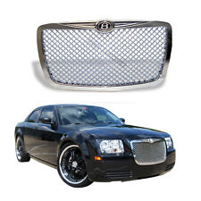 For 05-10 Chrysler 300 300C Mesh Style Front Bumper Hood Grille Grill Chrome
