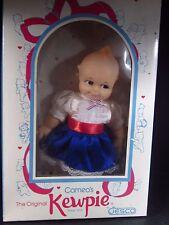 "Jesco Cameo's KEWPIE DOLL WITH BOX Blue Red White Dress w/ Box 8""  #899S"