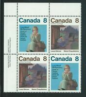Canada #659a(21) 1975 8 cent brown multi LUCY MAUD MONTGOMERY & LOUIS HEMON MNH