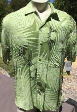 Vintage Mens Jams World Casual Hawaiian Style SS Shirt L Palm Green NWT USA Made