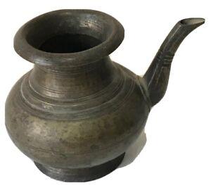 Antique pot 1850's from India bronze metal