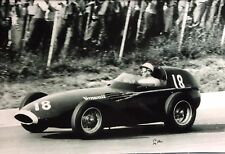 Stirling Moss Hand Signed Vanwall F1 18x12 Photo.