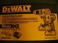 DEWALT DCK283D2 20V 20 Volt Li-Ion Brushless Drill & Impact Driver Set New Tools