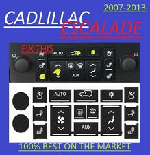 2007-2010 Cadillac Escalade A/C Buttons worn peeling replacement decals set