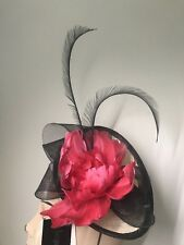Jacques Vert Flower & Feather Disc Fascinator 100% Natural Fibres RRP £79