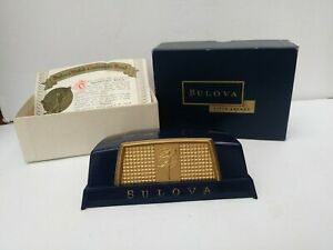 Vintage 1960's Bulova Fifth Avenue New York Watch Display Box Case & Box Only