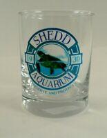 "Shedd Aquarium Collectable Glass Cup Rocks or Orange Juice Cup 4.25"""