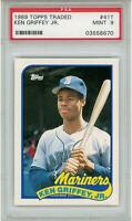 Ken Griffey Jr. Seattle Mariners 1989 Topps Traded RC #41T PSA 9 Card Topps