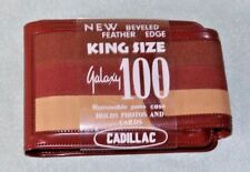 VINTAGE 60's-70's MENS WALLET KING SIZE GALAXY 100 CADILLAC BROWN VINYL CLOTH
