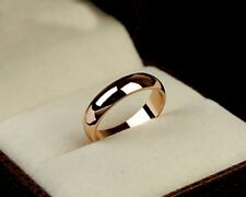 Simple style 18K Rose Gold plated lady mens Groom Bridal Wedding band Ring
