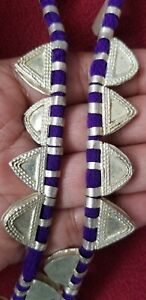 Handmade Decorated Silver Metal Telsum Beads from Ethiopia African Jewelry