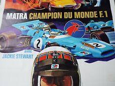 vintage Posters affiche Formule 1 MATRA f1 publicité championnat jackie stewart