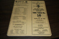 OCTOBER 1983 ATSF SANTA FE LOS ANGELES DIVISION EMPLOYEE TIMETABLE #16
