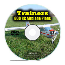 800 Trainer RC Radio Control Model Aircraft Plans, Instructor Planes PDF DVD I19