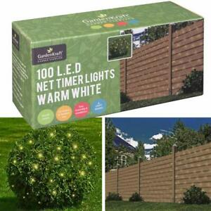100 Led Timer Net Lights LED Garden Fence Party Indoor Outdoor BBQ Garden Lights