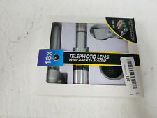Telescope Lens Kit For Mobile Phone 18X Optical wide angle and macro Lens