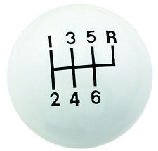 Onorevole GUARNIZIONE 9629 Classic Bianco BALL 6 velocità GEAR SHIFT SHIFTER Manopola