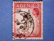 Aden. QE2. 1956. 2s Blk & Carm-Red. SG66. Wmk Mult Script CA. P12 x 13½ Used (1)
