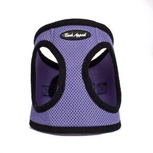 Bark Appeal EZ Wrap Mesh Dog Step In Harness Violet Sizes XXS-XXL