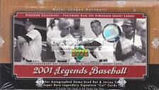 2001 UPPER DECK LEGENDS BASEBALL MLB FACTORY SEALED HOBBY BOX NEW EXPRESS POST!!