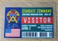 Stargate Command SG-1 Identification Badge-Cheyenne Vtt Base Vistor Cosplay Prop
