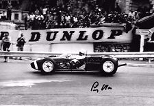 Stirling Moss SIGNED 12x8  RRC Walker Lotus 18-Climax  Monaco GP 1961