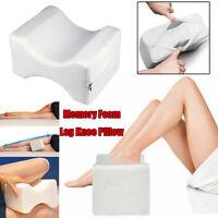 Contour Memory Foam Leg Pillow Relief Pain Orthopaedic Knee Hips Back Cushion