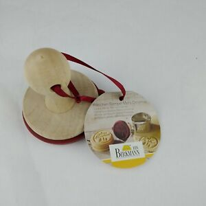 RBV BIRKMANN Merry Christmas Wooden Cookie Stamp Silicone with Recipe NWT