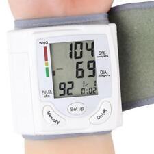 LCD Digital Wrist Blood Pressure Monitoring Heart Beat Rate Pulse Meter Measure