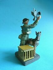 Elastolin 1930 Germany composition carrier pigeon set lineol  maître-chien