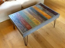 Reclaimed Handmade Vintage/ Industrial Timber Coffee Table with Hairpin Legs