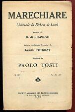 PARTITION ANCIENNE MARECHIARE PAOLO TOSTI