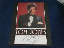 TOM JONES SIGNED POSTER