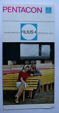 Sammlungsauflösung Prospekt Katalog: Pentacon Kleinbildprojektor FILIUS 4