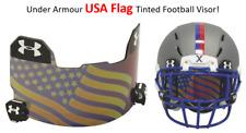 LOWEST PRICE Under Armour USA FLAG BLUE Tinted Football Helmet Visor Eye Shield