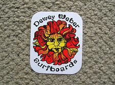 Dewey Weber sun surfboard surfing sticker vintage style decal longboard surfer
