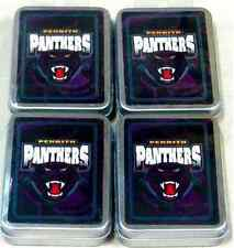 PENRITH PANTHERS NRL 4 PACKS DECKS OF TEAM LOGO PLAYING CARDS IN TIN - BRAND NEW