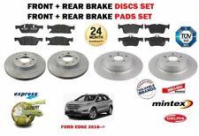Für Ford Ecke 2.0 TDCI SUV 2016> Neu Vorne + Bremsscheiben Set Hinten+Beläge Set
