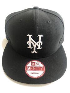 """Brand New"" New Era MLB New York Mets 9FIFTY Snapback Black Hat"