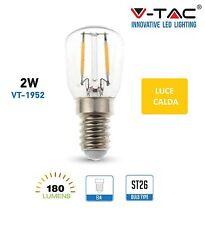 V-TAC LAMPADINA LED E14 da 2W watt  Lampada Sfera Mini  Bulbo FILAMENTO tubolare