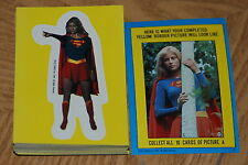 1984 Topps DC Supergirl Sticker Set Trading Cards  *Complete Set of 44*