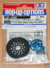 Tamiya 54500 TT-02 High Speed Gear Set (TT02/TT02B/TT02D/TT02T), NIP