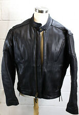 ULTIMATE RIDER Black Leather Thinsulate Motorcycle Riding Biker Jacket 44 XL