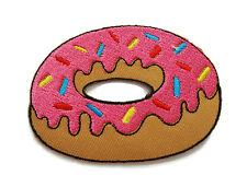 Pink Doughnut Donut Iron On Embroidered Shirt Hat Bag Jeans Transfer Badge Patch