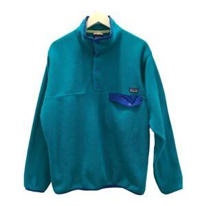 Patagonia Mens Synchilla Fleece Sweatshirt Teal Green Long Sleeves Pullover M