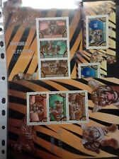Tigers / Animals on postage stamps perf. + imperf . - MNH** M105
