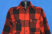 vintage 60s WOOLRICH RED BLACK PLAID HEAVY WOOL HUNTING JACKET SHIRT MEDIUM M 15