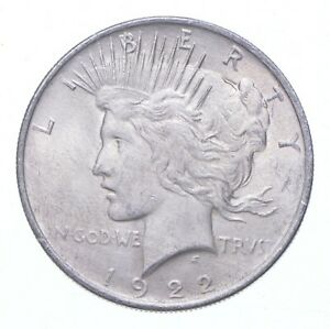 Early - 1922 Peace Silver Dollar - 90% US Coin *171